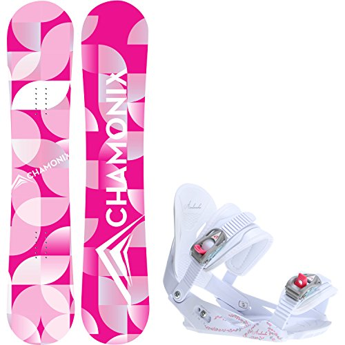 Chamonix Quartz 148cm Womens Snowboard + Avalanche Serenity Bindings - Fits US WMS Boots Sized: 7,8,9,10