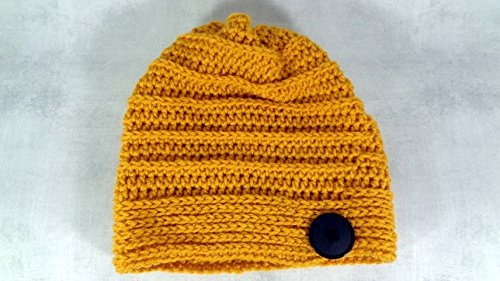 (Gold slouchy beanie hat for all seasons men and women)