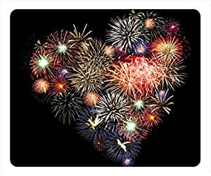 Heart shaped fireworks pop Masterpiece Limited Design Oblong Mouse Pad by Cases & Mousepads