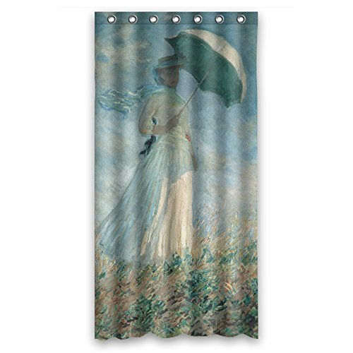 Eyeselect Claude Monet Art Painting Shower Drape Polyester Best For Kids Girl Custom Kids Artwork Teens. Rust Proof Width X Height / 36 X 72 Inches / W H 90 By 180 Cm(fabric)