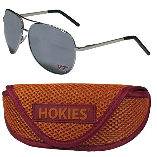 NCAA Virginia Tech Hokies Aviator Sunglasses & Sports Case ()