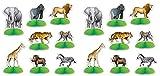 Beistle 53374 Jungle Safari Animal Mini Centerpieces 16 Piece, 3''-5.5'', Multicolored