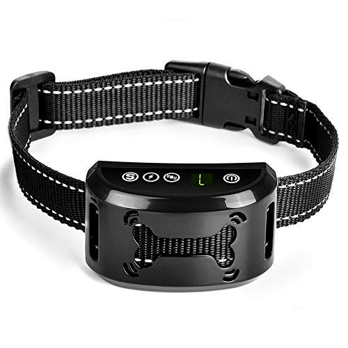 Dog Bark Collar - Dog Anti Bark Collar - Stop Barking with Beep/Vibration/ Harmless Shock, Rechargeable and Waterproof Humane No Bark Control for Small Medium and Large Dog