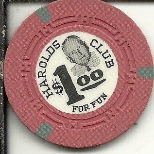 ($1 harolds club for fun casino chip reno nevada obsolete)