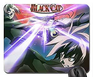 Black Cat Mouse Pad, Mousepad (10.2 x 8.3 x 0.12 inches)