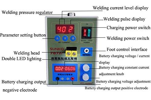 Dual Pulse Spot Welder Welding Machine Power Tool Battery Charger na 220V S787A
