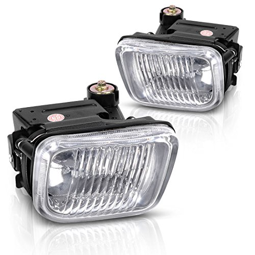 Fog Lights Fog Lamps For Honda Civic 1996 1997 1998 (Real Glass Clear Lens with H3 Halogen 12V 55W Bulbs & Wiring Harness)