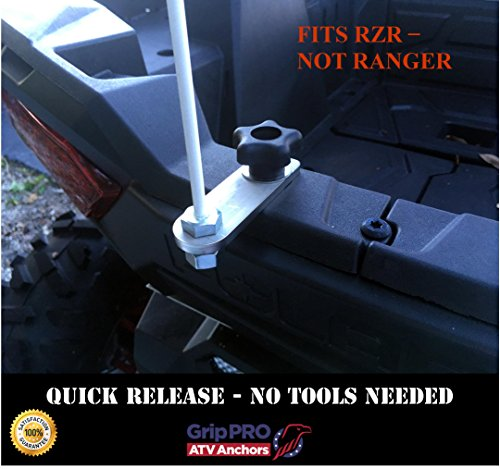 Sportsman Flag Mount Lock and Ride ATV Flag Pole Holder-Quick Release for RZR