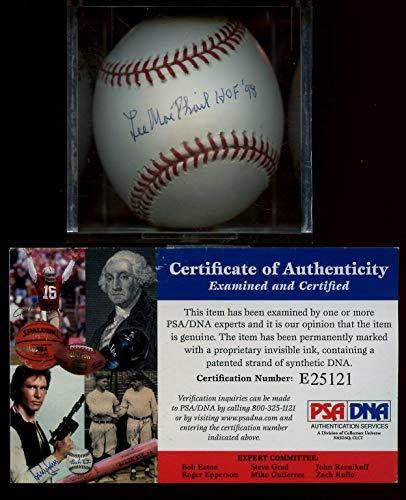 (Lee MacPhail Autographed Baseball - HOF 98 Single Official Selig PSA DNA - Autographed Baseballs)
