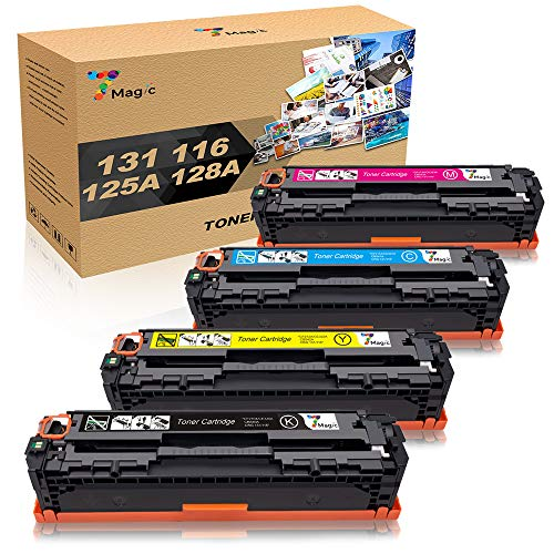 (7Magic Compatible Toner Replacement for HP 131A 131 Canon 131 131H 116 CF210A CF210X CF211A CF212A CF213A Color ImageCLASS MF624Cw MF628Cw MF8280Cw LBP7110Cw LBP7100Cn MF8050CN MF8080CW (4)