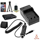 Halcyon Brand 600 mAH Charger with Car Charger Attachment Kit + Memory Card Wallet + SDHC Card USB Reader + Deluxe Starter Kit for Canon Rebel XT 8MP Digital Camera and Canon NB-2LH