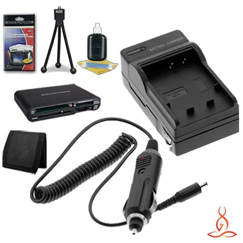 Halcyon Brand 600 mAH Charger with Car Charger Attachment Kit + Memory Card Wallet + SDHC Card USB Reader + Deluxe Starter Kit for Canon Rebel XT 8MP Digital Camera and Canon NB-2LH by Halcyon