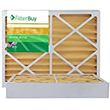 FilterBuy 21x21x4 MERV 11 Pleated AC Furnace Air Filter, (Pack of 2 Filters), 21x21x4 – Gold