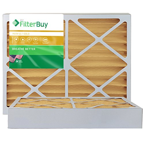 AFB Gold MERV 11 15x20x4 Pleated AC Furnace Air Filter. Pack of 2 Filters. 100% produced in the USA.