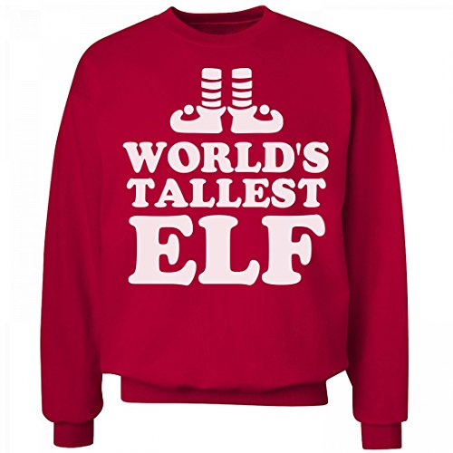 Buddy The Elf Outfit (World's Tallest Elf: Unisex Hanes Ultimate Crewneck Sweatshirt)