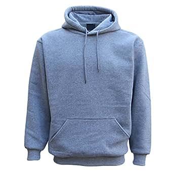 Zmart Australia Adult Unisex Men's Plain Basic Pullover Hoodie Sweater Sweatshirt Jumper XS-5XL, Light Grey, XS