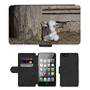 Hot Style Cell Phone Card Slot PU Leather Wallet Case // M00116235 Goat Goats Animal Mammals Farm // Apple iPhone 4 4S 4G