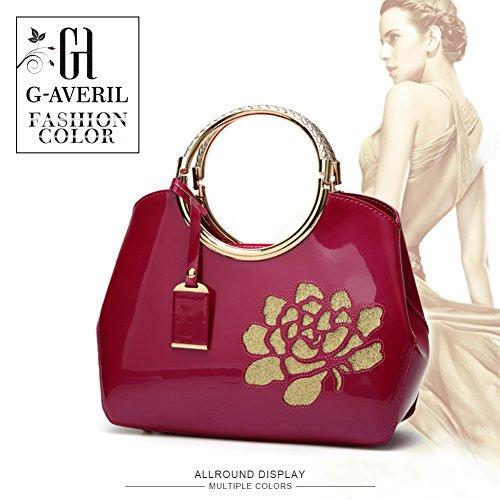 a del borsa Borse Borsa rossa Borsa Donna a Rosa Spalla tracolla Mano Borse borsa GAVERIL di rosa Rossa Tote sacchetto x84Xvqp