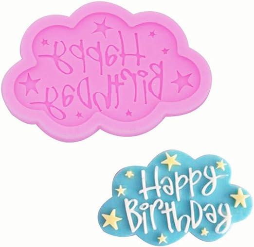 Happy Birthday Silicone Mold Cake Decoration DIY Baking Pan Bakeware Accessories
