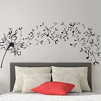 Amazon.com: Wall Decal Decor Bedroom Wall Decal - Dandelion Vinyl ...
