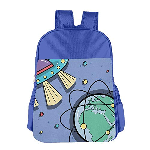 Xyou Teens Girl Boy Kids Satchel Ufos Orbits Around Earth Planet Student Travel Shoulder Bag Classic Basic Casual Daypack