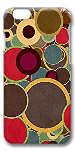 DIY iPhone 6 Case, Multicolor Circles Brown Digital Art Fit Cell Phone Case for Apple iPhone 6, Hard 3D Clear Bumper Screen Protector For Apple iPhone 6 [Shock-Dispersion] [Slim Fit]