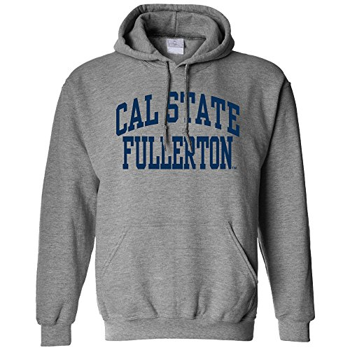 NCAA Cal State Fullerton Titans Long Sleeve Hoodie, Large, Athletic Heather
