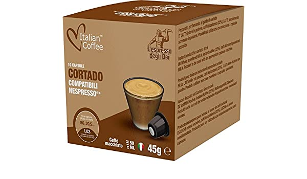 Flavored drinks capsules, Nespresso compatible pods, by Italian Coffee (Cortado, 120): Amazon.com: Grocery & Gourmet Food