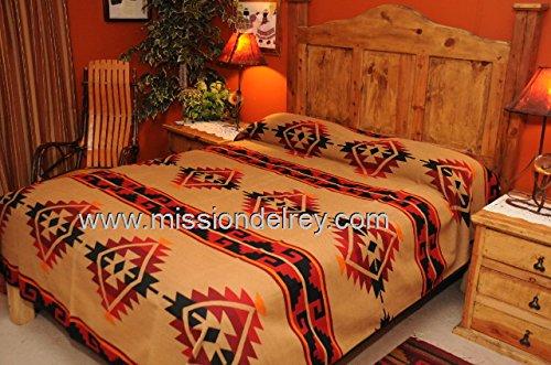 Style Ranch Bedspread (Mission Del Rey Western Ranch Blanket Bedspread - Yavapai Pattern KING)