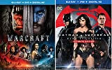 Batman v Superman: Dawn of Justice (Ultimate Edition) + Warcraft Double Feature Blu Ray DVD 2 Movie Set