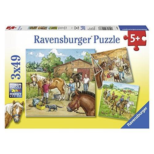 Ravensburger - 09237 6 - Puzzle - Mon Cheval Ferme - 3 x 49 Pièces