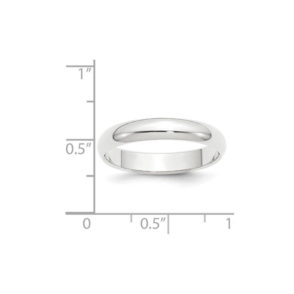 Platinum 4mm Half-Round Wedding Band Size 7.5 by Diamond2Deal (Image #2)