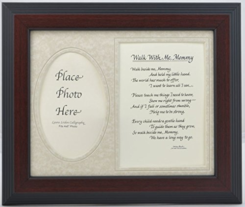 Walk with Me Mommy Picture Frame with Poem 8x10 Dad Gift ...