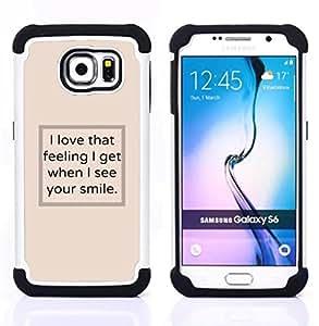 - I see your smile poster text beige inspiring - - Doble capa caja de la armadura Defender FOR Samsung Galaxy S6 G9200 RetroCandy