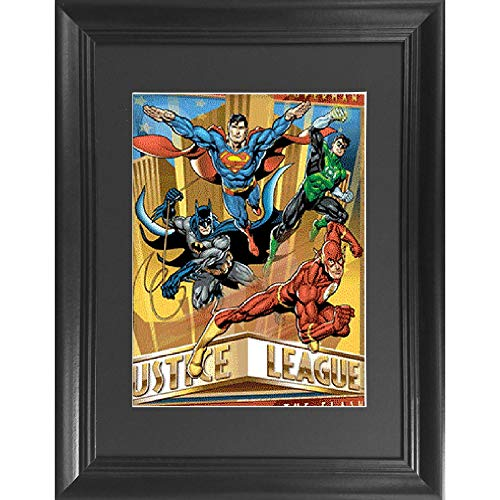 Justice League Heroes 3D Poster Wall Art Decor Framed Print | 14.5x18.5 | Lenticular Posters & Pictures | Memorabilia Gifts for Guys & Girls Bedroom | DC Comic Book Classic SuperHero Movie Fan Picture