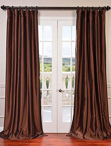 Half Price Drapes PTCH-BO209-108 Copper Blackout Faux Silk Taffeta Curtain, 50