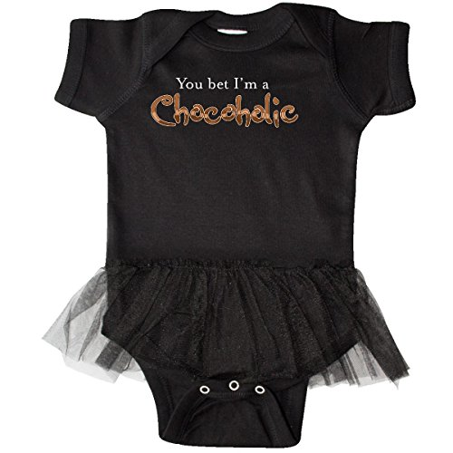 inktastic Bet I'm a Chocoholic Infant Tutu Bodysuit 6 Months Black (Body Chocoholics)