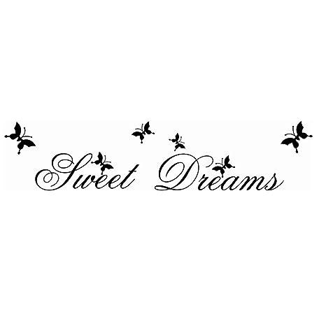 Ogquaton Pegatinas de Pared extraíbles Sweet Dreams Letra ...