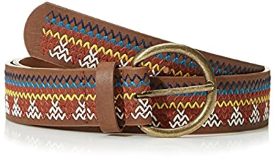 Beautiful Nomad Women's Bohemian Embroidery Braided Casual PU Leather Belt
