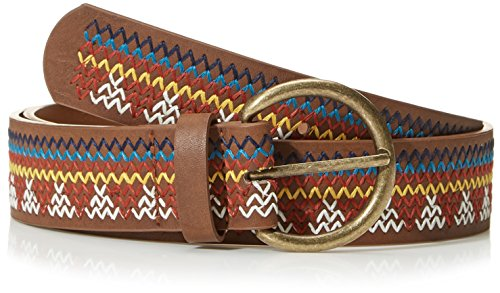 Brown Multi Colored - Beautiful Nomad Women's Bohemian Embroidery Braided Casual PU Leather Belt