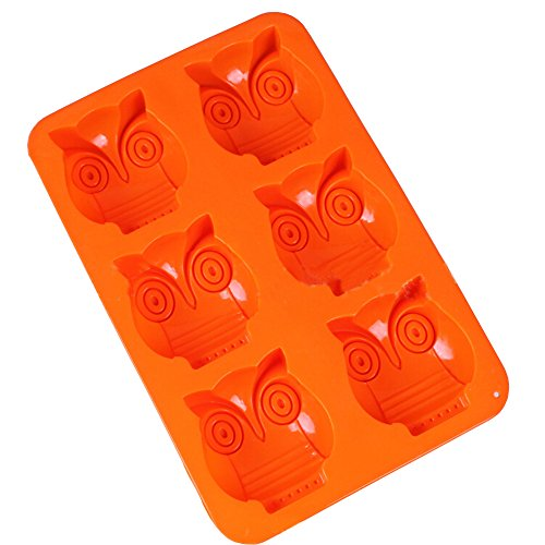 Yunko 6 Owl Silicone Cake Baking Mold Cake Pan Muffin Cups Handmade Soap Moulds DIY Tool