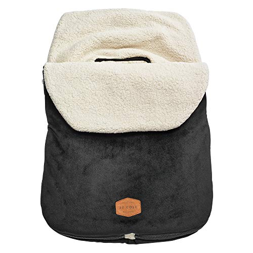 JJ Cole - Original Bundleme, Canopy Style Bunting Bag to Protect Baby from Cold and Winter Weather in Car Seats and Strollers, Blackout, Infant (All Of Me Best Cover)