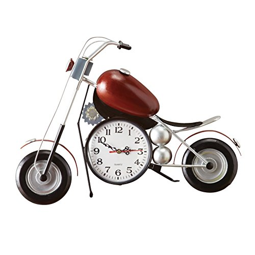 Collections Etc Vintage Motorcycle Metal Wall Clock