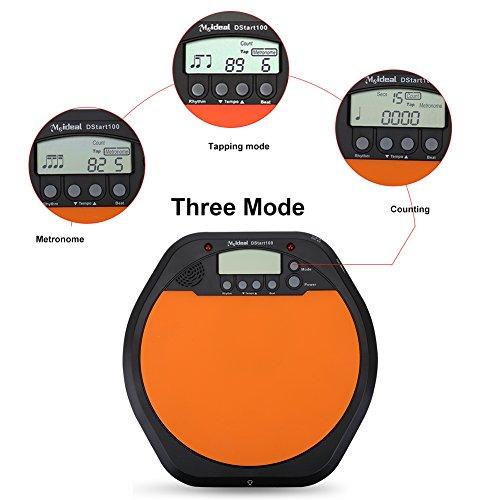 Electronic Digital Drum Pad Drum Practice Pad Drummer Training Practice Drum Pad Metronome with Earphone by Vbestlife