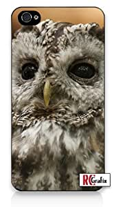 Beautiful Wise Owl Bird iphone 6 4.7 Quality Hard Snap On Case for iphone 6 4.7 G T Sprint Verizon - White Case Cover