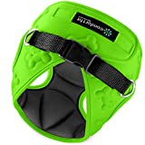 Easy to Put on and Take Off Small Dog Harnesses Our Small Dog Harness Vest has Padded Interior and Exterior Cushioning Ensuring Your Dog is Snug and Comfortable ! (Small, Black & Neon Green)
