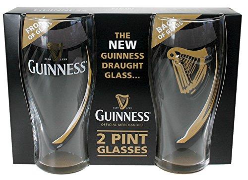 Guinness Gravity Pint Glass (2 (Bottle Glass Pub)