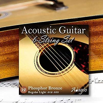 Adagio Musical Instruments Cuerdas para guitarras acústicas 2 ...