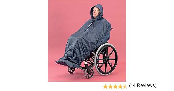 PD Care - Chubasquero para personas en sillas de ruedas (sin mangas, extralargo): Amazon.es: Salud y cuidado personal