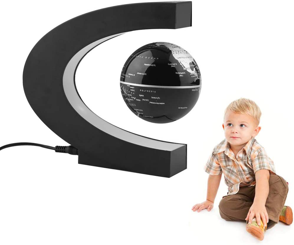 World map Floating 1CP Globe magnetic levitation C basic Form 3 byFire anti-Gravity Planet Globe Bal educational gifts for children Office Decoration black